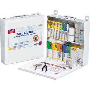 50-Person, 196-Piece Bulk First Aid Kit, Metal