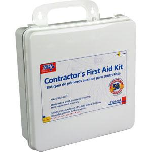 50-Person, 237-Piece Contractor First Aid Kit, Plastic