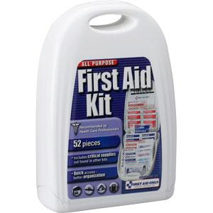 52-Piece All-Purpose First Aid Kit, Plastic