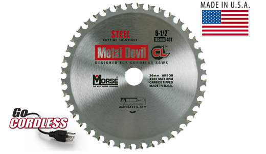 6-1/2- 40T: MK Morse Metal Devil® CL Circular Saw Blades