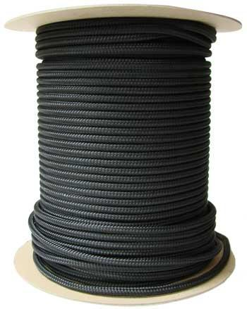 #8 (1/4) Black Sash Cord 1200' Spool