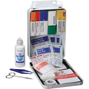 93-Piece Vehicle First Aid Kit, Metal