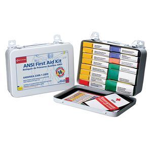 ANSI 16-Unit, 103-Piece Unitized First Aid Kit w/ Gasket, Metal