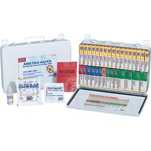 ANSI 36-Unit, 194-Piece Unitized First Aid Kit w/ Gasket, Metal