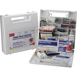 ANSI 50-Person, 195-Piece Bulk First Aid Kit w/ Dividers, Plastic