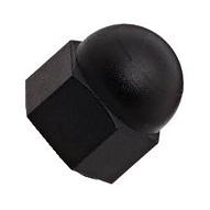 Black Zinc Steel Acorn Nuts
