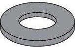 Black Zinc Steel SAE Flat Washers