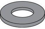 Black Zinc Steel SAE Flat Washers