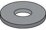Black Zinc Steel USS Flat Washers