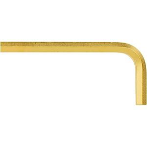 Bondhus 28212, 1/4 GoldGuard Plated Hex L-Wrench - Short