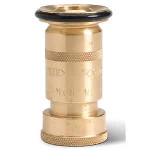 Brass Adjustable Fog Nozzle, 1 1/2 NPSH, 106 gpm