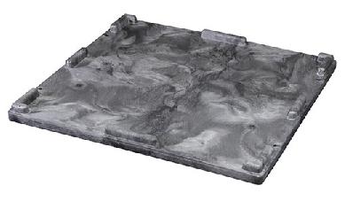Buckhorn® Black 32L x 30W x 2H Standard-Duty Structural Foam Lid