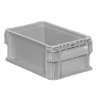 Buckhorn® Light Grey 12L x 7W x 5H Straight Wall Container