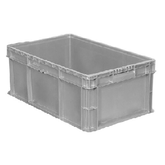 Buckhorn® Light Grey 24L x 15W x 7H Straight Wall Container