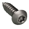 Button Head Pin In Six Lobe 18/8 Stainless Steel Sheet Metal Screws
