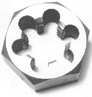 Carbon Steel Hex Rethreading Die, British Standard Fine