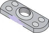 Center Hole Multiple Projection Style Plain Finish Steel Tab Weld Nuts