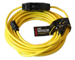 Century Wire & Cable PowerTech® 50' 12/3 SJTW Yellow Inlined GFCI Extension Cord