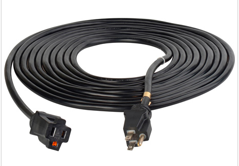 Century Wire & Cable Pro Classic® 15' 12/3 SJTW Black Extension Cord
