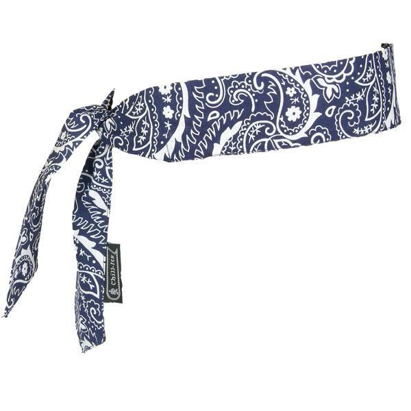 Chill-Its® 6700 Bandana, Tie Closure, Navy Western