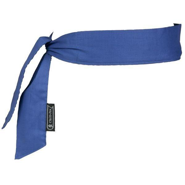 Chill-Its® 6700 Bandana, Tie Closure, Solid Blue