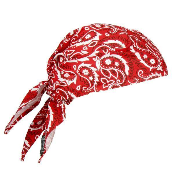 Chill-Its® 6710 Triangle Hat, Tie Closure, Red Western