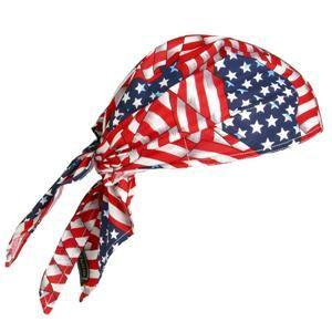 Chill-Its® 6710 Triangle Hat, Tie Closure, Stars & Stripes