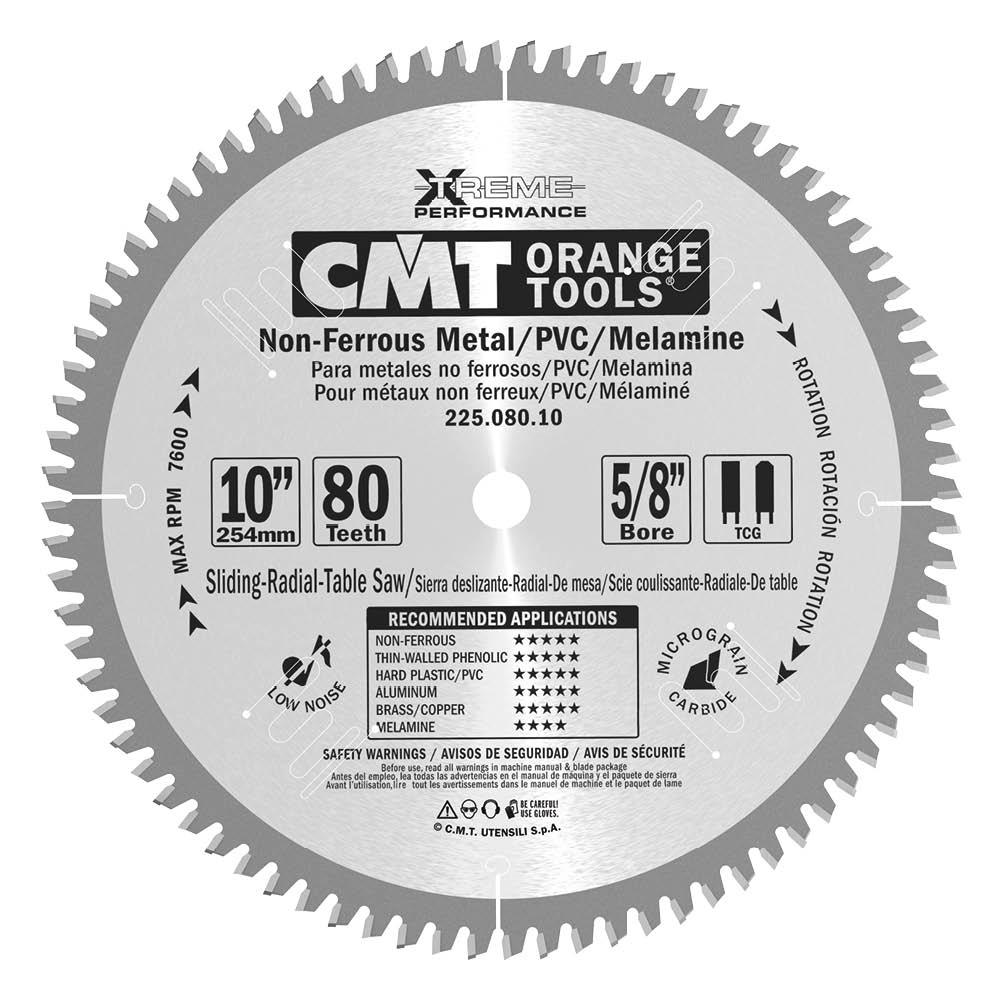 CMT 18 x 108T x 1 Industrial Non-Ferrous PVC & Melamine Tungsten Carbide Tipped Circular Saw Blade