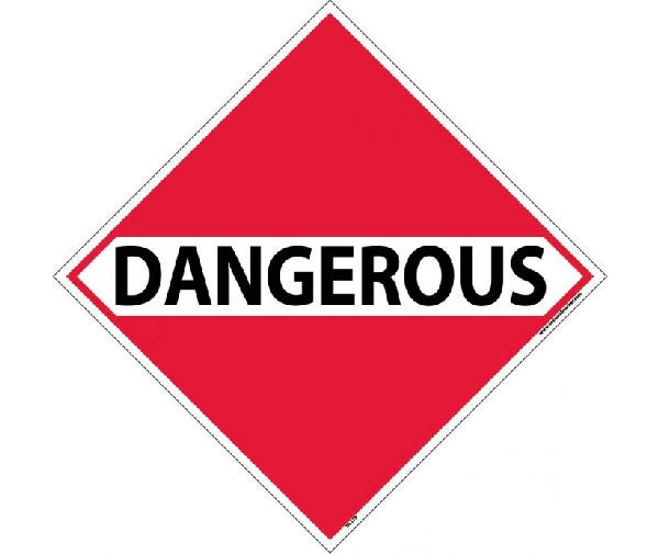 Dangerous Dot Placard Sign Mutual Screw Amp Supply