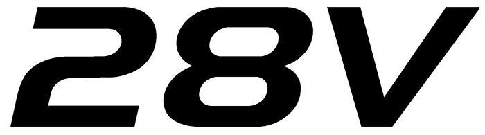 Decal, JetGo, 28V Black, 12? x 3.25