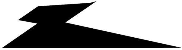 Decal, JetGo, Black Lightning Bolt (left side), 23.75? x 6.375