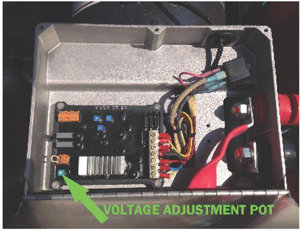 Decal, JetGo, Voltage Adjustment Pot, 6.5? x 5