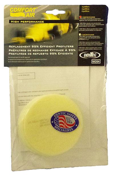 Dentec Safety N95 Pre Filter Pad - Header Bag