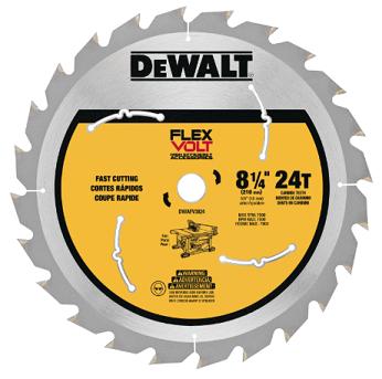 DeWalt Flexvolt® 8-1/4 36 TPI 0.625 Arbor Wood Cutting Circular Saw Blade