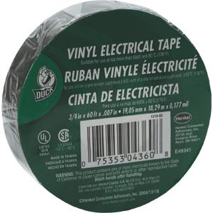 Duck® Electrical Tape 3/4 x 60'