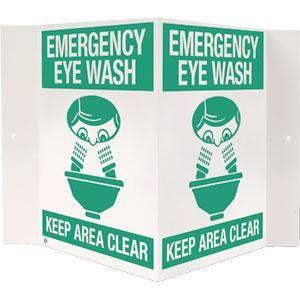 """Emergency Eyewash"" (3-D Rigid Plastic, 18 x 10)"