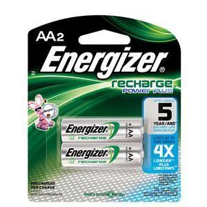 Energizer® Recharge® AA Batteries, 2/Pkg