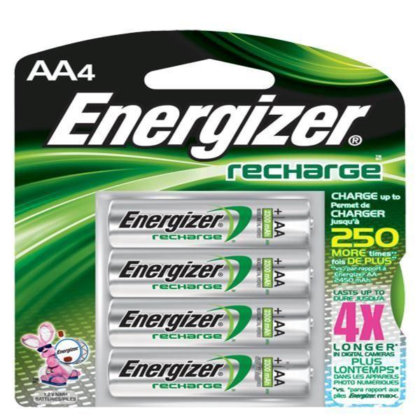 Energizer® Recharge® AA Batteries, 8/Pkg