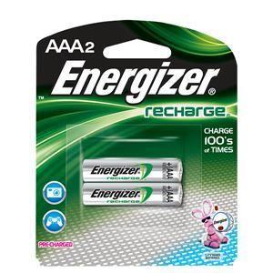 Energizer® Recharge® AAA Batteries, 2/Pkg