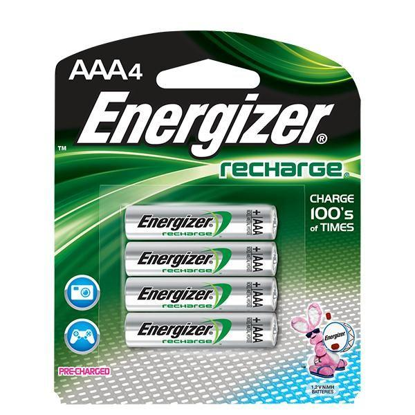 Energizer® Recharge® AAA Batteries, 4/Pkg