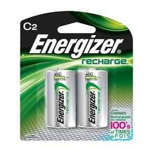 Energizer® Recharge® C Batteries (2/Pkg)