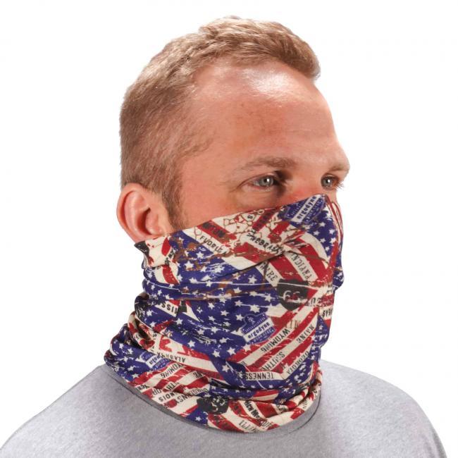 Ergodyne Chill-Its® Stars & Stripes Multi-Use Face Mask