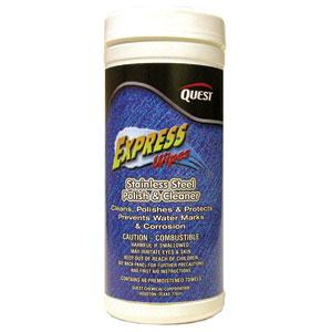 Express Wipes Stainless Steel Polish & Cleaner 40 Ct