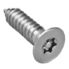 Flat Head Pin In Six Lobe 18/8 Stainless Steel Sheet Metal Screws