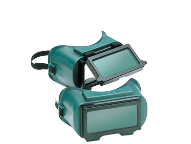 Gateway Safety 1700 Series Soft Green Frame 2 x 4-1/4 5.0 IR Filter Shade Lift Front Welding Goggles