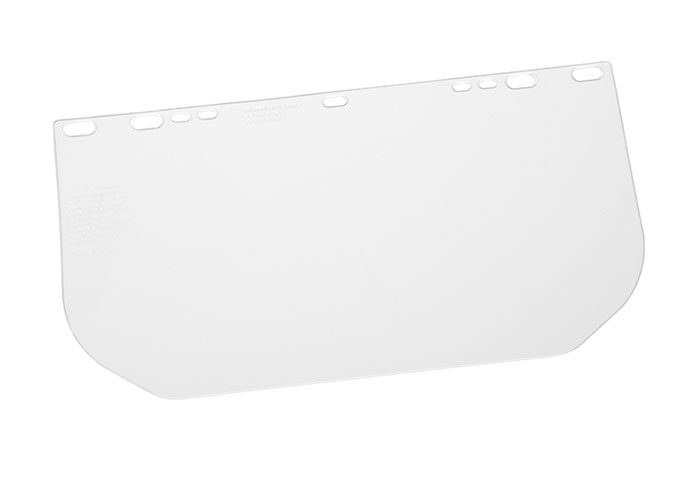 Gateway Safety 8 x 15-1/2 Polycarbonate Unbound Clear Flat Stock Visors - 10 Pack