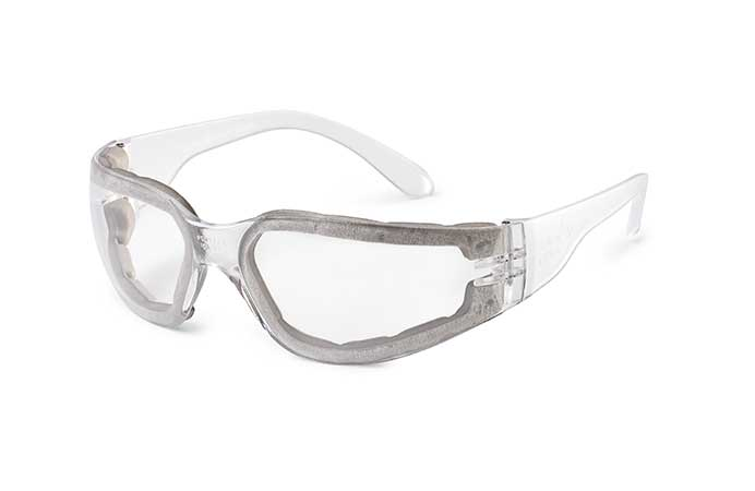 Gateway Safety StarLite® FOAMPRO™ Clear Anti-Fog Foam Lens Clear Temple Safety Glasses - 10 Pack