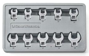 GearWrench 11pc. Metric Crowfoot Wrench Set