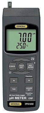General Tools DPH230SD Ph, Orp Meter With Excel-Formatted Data Logging SD Card