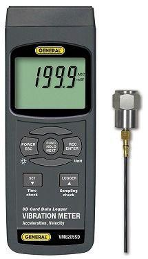 General Tools VM8205SD Vibration Meter With Excel-formatted Data Logging SD Card